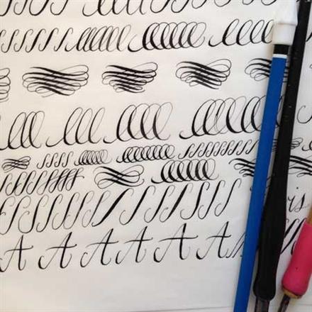 Calligraphy hand lettering basics with pen ink Calligraphy basics