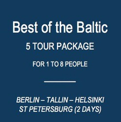 Shore Trips to meet your ship in Warnemunde (Rostock), Tallinn, St Petersburg and Helsinki