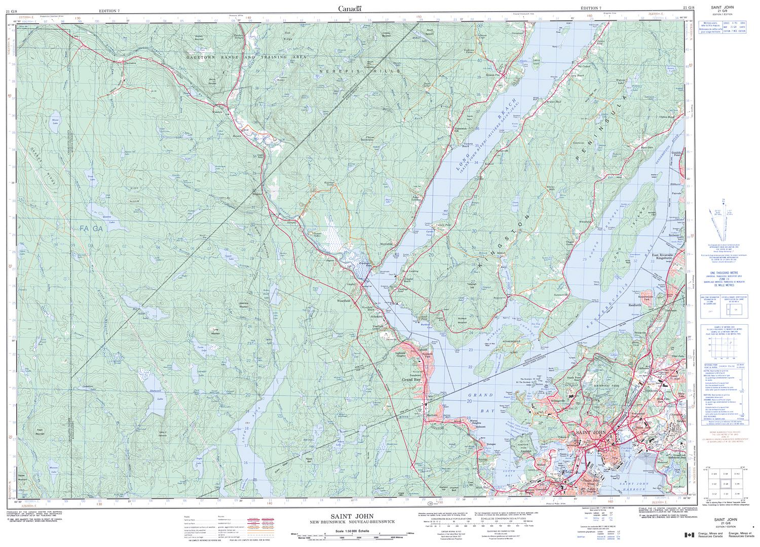 021G08 SAINT JOHN Topographic Map