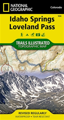 104 Idaho Springs Loveland Pass National Geographic Trails Illustrated