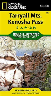 105 Tarryall Mountains Kenosha Pass National Geographic Trails Illustrated