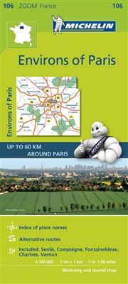 106 France Paris Vicinity Michelin Map