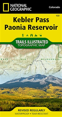 133 Kebler Pass Paonia Reservoir National Geographic Trails Illustrated