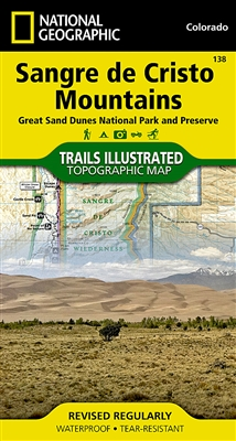 138 Sangre de Cristo Mountain Great Sand Dunes National Park National Geographic Trails Illustrated