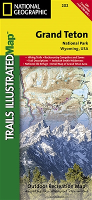 202 Grand Teton National Park National Geographic Trails Illustrated