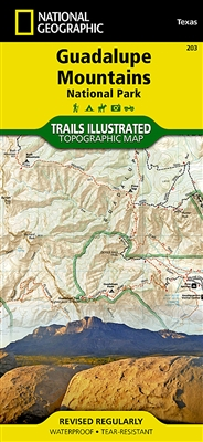 203 Guadalupe Mountains National Park National Geographic Trails Illustrated