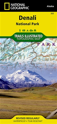 222 Denali National Park and Preserve National Geographic Trails Illustrated
