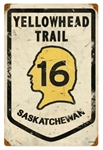 Yellowhead Trail 16 Saskatchewan Vintage Metal Sign