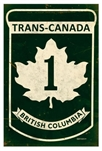 TransCanada British Columbia Vintage Metal Sign