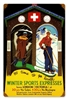 Winter Sports Express Vintage Metal Sign
