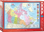 Map of Canada Puzzle 1000 Pieces