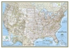 USA Classic National Geographic Wall Map Enlarged