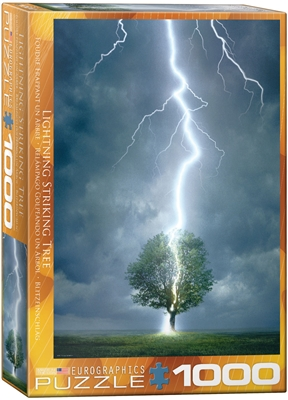 Lightning Striking Tree Puzzle 1000 Pieces