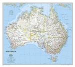 Australia Classic National Geographic Wall Map