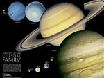 The Solar System National Geographic Poster