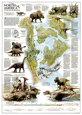 North American Dinosaurs National Geographic Poster