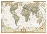 World Executive National Geographic Wall Map 3 Sheet Mural