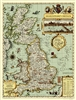 Shakespeares Britain National Geographic Wall Map