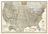 USA Executive National Geographic Wall Map