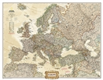 Europe Executive National Geographic Wall Map Enlarged