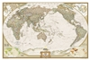 World Executive Pacific Centered National Geographic Wall Map