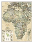 Africa Executive National Geographic Wall Map