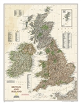 Britain and Ireland Executive National Geographic Wall Map