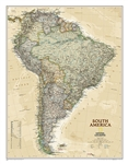 South America Executive National Geographic Wall Map