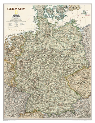 Germany Executive National Geographic Wall Map