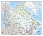 Canada Classic National Geographic Wall Map