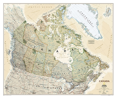 Canada Executive National Geographic Wall Map
