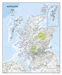 Scotland Classic National Geographic Wall Map