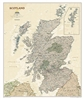 Scotland Executive National Geographic Wall Map
