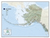 Alaska Physical National Geographic Wall Map