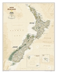 New Zealand Executive National Geographic Wall Map