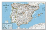 Spain and Portugal Classic National Geographic Wall Map