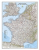 France Belgium and the Netherlands Classic National Geographic Wall Map