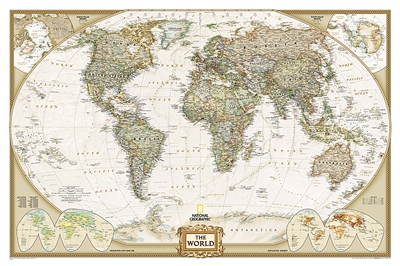 World Executive National Geographic Wall Map