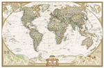 World Executive National Geographic Wall Map Enlarged