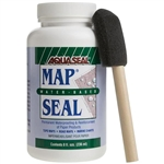 Aqua Seal is a permanent waterproofing agent that helps to also reinforce paper products. With this product you can waterproof your topographic maps, road maps, marine charts and more. 8 ounces. One bottle will coat approximately 6-8 topographic maps.