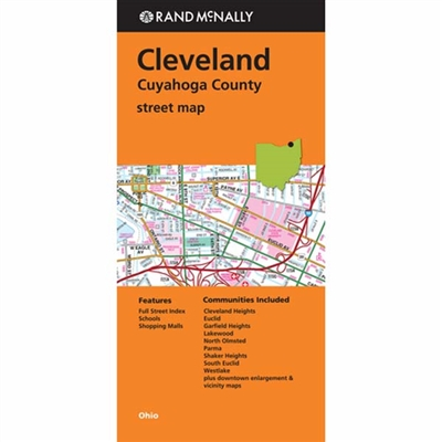 Cleveland Cuyahoga County Street Map