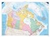 Canada Political Wall Map Large