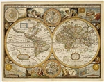 World Antique Freytag and Berndt Wall Map