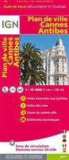 Cannes Antibes City Plan France IGN