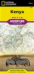 Kenya National Geographic Adventure Map