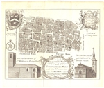 LONDON Breadstreet Ward and Cornwainers Ward antique rare map (circa 1770)
