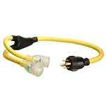 Coleman Cable 01934 3-Feet Generator Power Cord Adapter 10/4 Splitter Y Adapter L1430P TO 10/3 520R