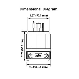 leviton l14 30 wiring diagram wiring diagram and schematic design l630p power plug 30 ere 250 volt nema l6 30p hubbell hbl2621