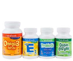All 4 NutraFoods Product w/ Omega 3 Fish Oil - Softgels