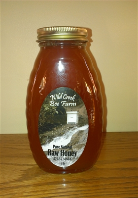 1lb goldenrod raw honey jar